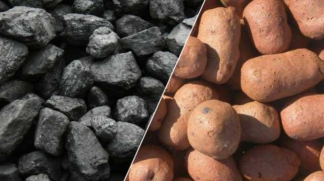 Уголь и керамзит